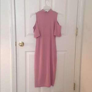 I'm selling an off the shoulder light pink dress